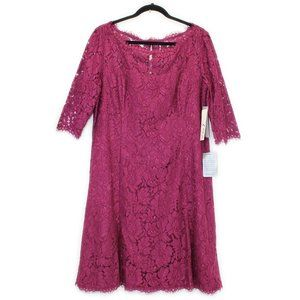 NWT! ELIZA J Cranberry Lace Dress